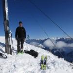 Pleisenspitze, 2.569m Hier auch der Verfasser mit dem Gipfelkreuz abgelichtet, damit Rügen entfallen man sähe ihn nie auf seinen Touren