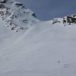 markanter Sattel zum Hochtal zur Ellesspitze