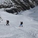 Christian und Zachi in der ersten Steilstufe