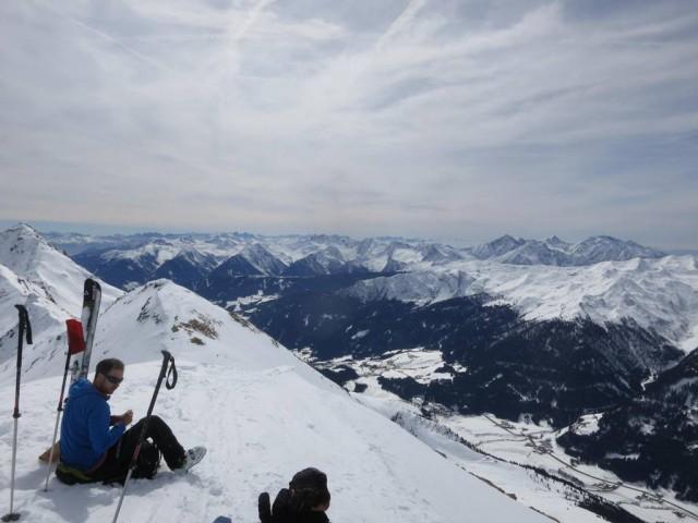 Gipfelrast auf der Ellesspitze, 2.661m