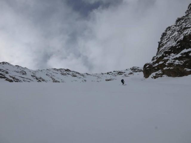 Aufsteig im mittleren Teil des Steilhanges, Christian spurt