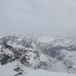 Blick nach Osten mit Timmelsjochstraße in Südtirol