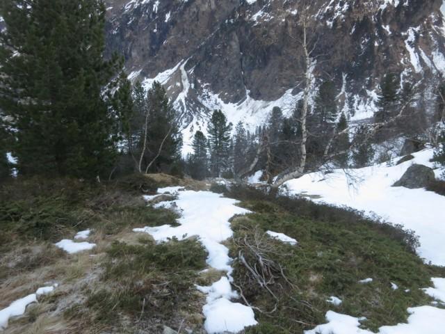 erste Steilstufe im Rückblick
