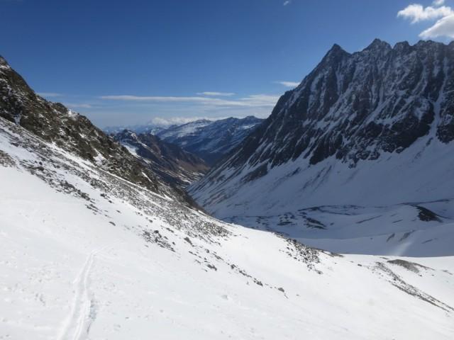 Rückblick von ca. 2.700m