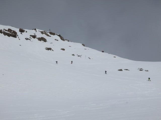 letztes kleines Stück mit ca. 100Hm immer steiler werdenden Anstieges zum Gipfel