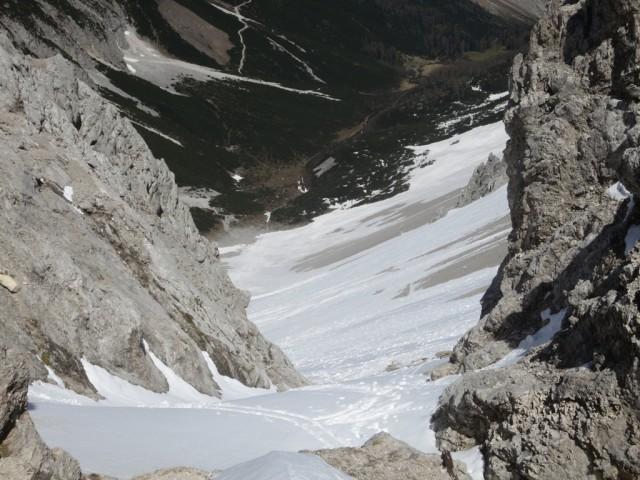 Blick vom Stempeljoch ins Kar