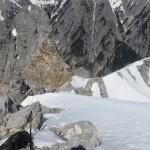 Aufstiegsroute großteils über die Felskante