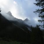 Blick in Richtung Hammerspitze gegen 8 Uhr