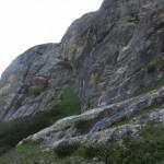 Steilstufe aus festem Kalk