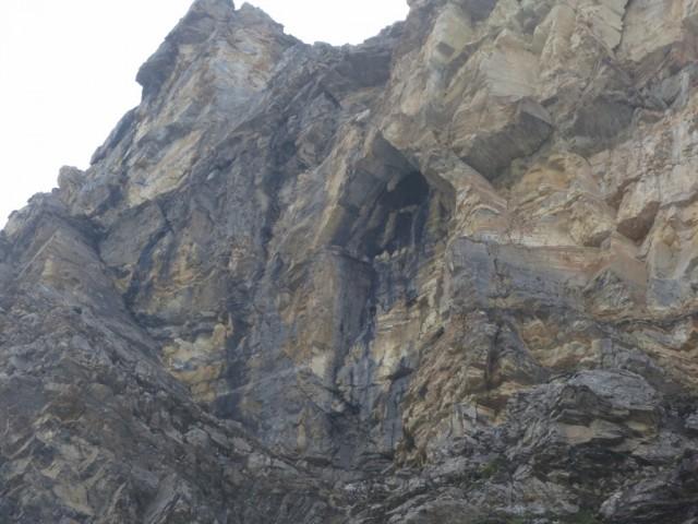 das Felsenbild im Gipfelaufbau, Namensgeber der Kirchdachspitze?