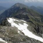 Restschneefelder am Gipfelaufbau