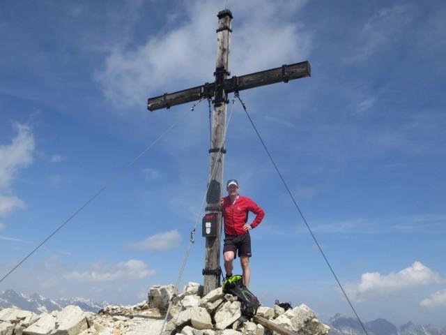 Simon am Gipfel der Hammerspitze, 2.840m