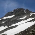 Kichdachspitze, 2.840m von ca. 2.600m am Weg zur Einschartung mit der Hammerspitze aus gesehen