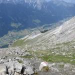 der Abstieg, 1.600m ins Tal