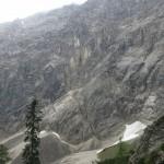 Nordwände des Großen Bettelwurf, klassische Klettereien beginnen hier