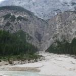 mächtige Wasser aus den Gleirschwänden scheinen hier beim Unwetter zu wüten