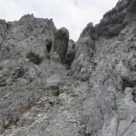 markanter Felsen, links durchstiegen