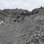 kurzer oberer Teil des Südgrates auf die Westliche Praxmarerkarspitze