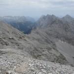 die östlichen Hauptgipfelder Gleirsch - Halltalkette mit der Kaskarspitze beginnend