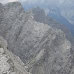 wildgezackter Grat vom Hinterödkopf und der Jägerkarlspitze zur Westlichen Praxmarerkarspitze