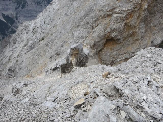 Rückblick Aufstieg zur Östlichen Praxmarerkarspitze