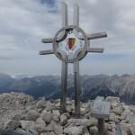 Gipfel Östliche Paxmarerkarspitze, 2.638m