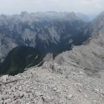 Gratverlauf zur Kaskarspitze und Normalweg