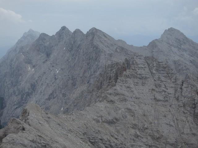 Kaskar-, Sonntagskar-, Hintere Bachofenspitze und Großer Lafatscher