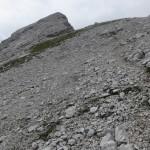 am Normalweg, nochmals der Gipfelaufbau