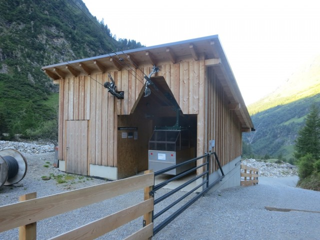 Seilbahn zur Geraer Hütte