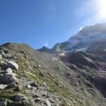 auf ca. 2.600m auf der Gletschermoräne des Olpererferners