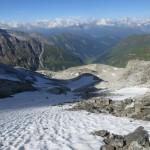 Rückblick ab Ende der Felseinlagen des Wildlahnergrates