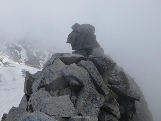 Beginn des Südostgrates (Riepengrat, Weg der Erstersteiger 1867)