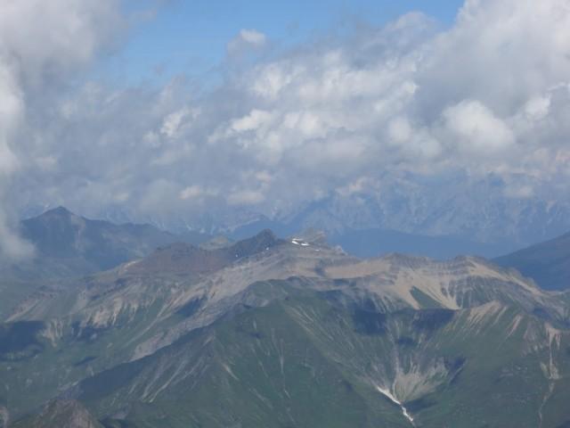 Blick über die Tuxer Alpen zum Karwendel