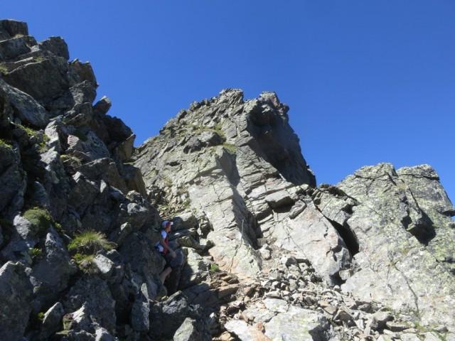 Gipfelaufbau Pockkogel von Südosten