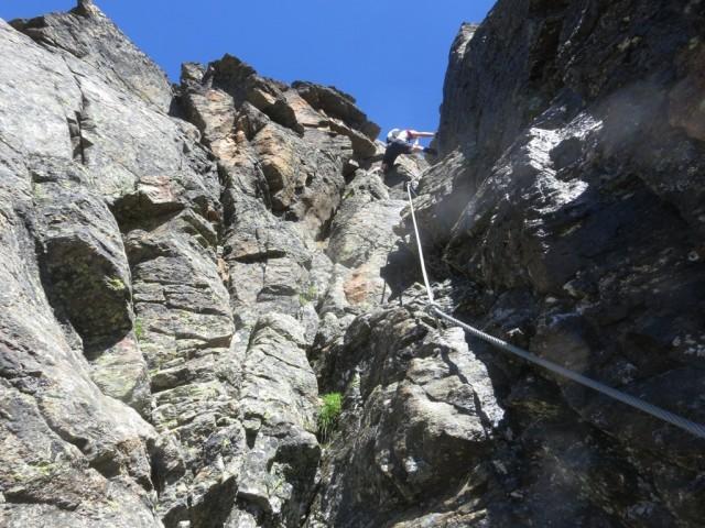 einzig ernstes Stück am Abstieg vom Pockkogel