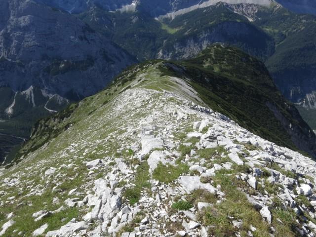 Rückblick am Kamm zum Großen Heissenkopf