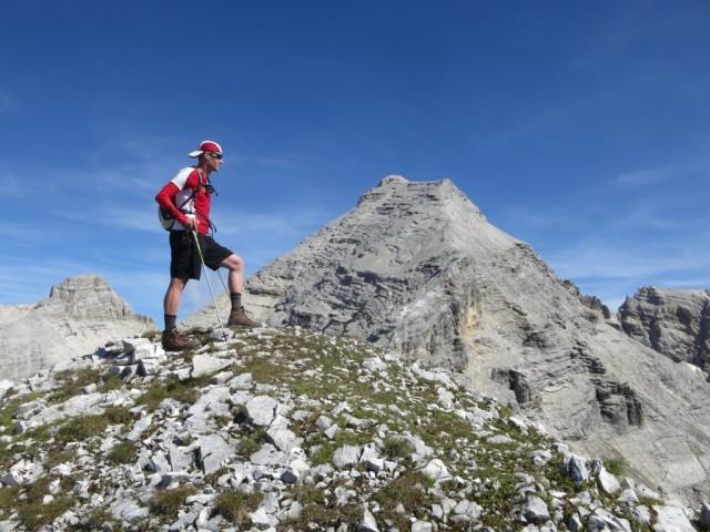 am Großen Heissenkopf; nein dahinter befindet sich nicht die Kaltwasserkarspitze!