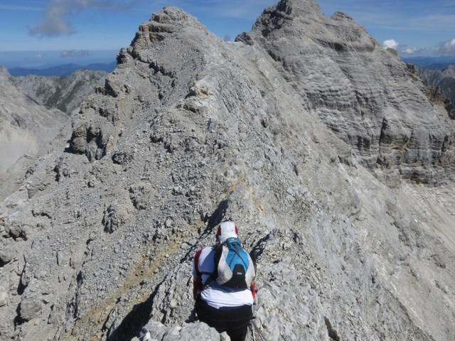 schärfer Teil am Grat zur Kaltwasserkarspitze