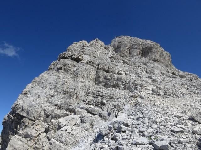 Gipfelaufbau der Kaltwasserkarspitze