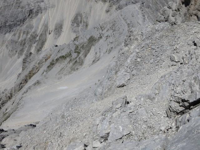 Abstiegsgelände zum Hochjöchl vom Ansatz des Südgrates aus gesehen