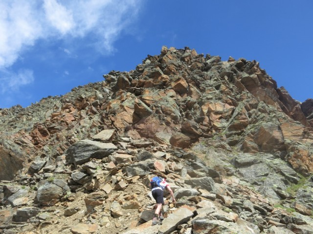 Gipfelaufbau der Falbesoner Knotenspitze