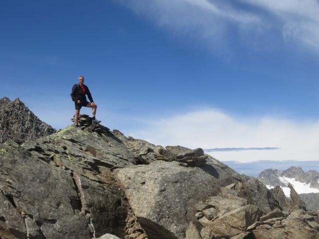 am Gipfel der Falbesoner Knotenspitze, 3.120m
