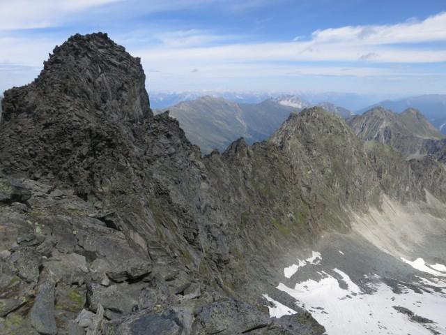 Östliche Knotenspitze, 3.100m und Gratverlauf bis zur Brennerspitze