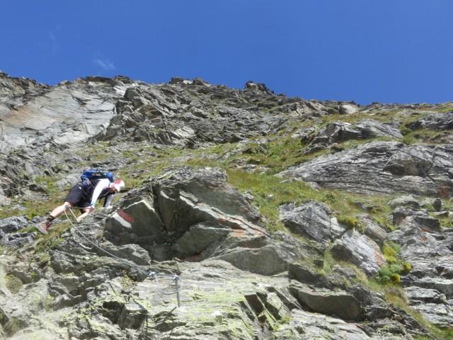 Abstieg am Normalweg von der Östlichen Knotenspitze