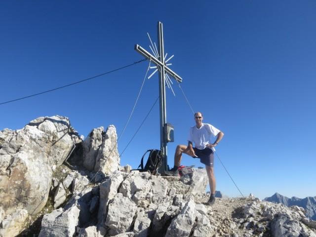 Andi am Gipfel der Trattenspitze