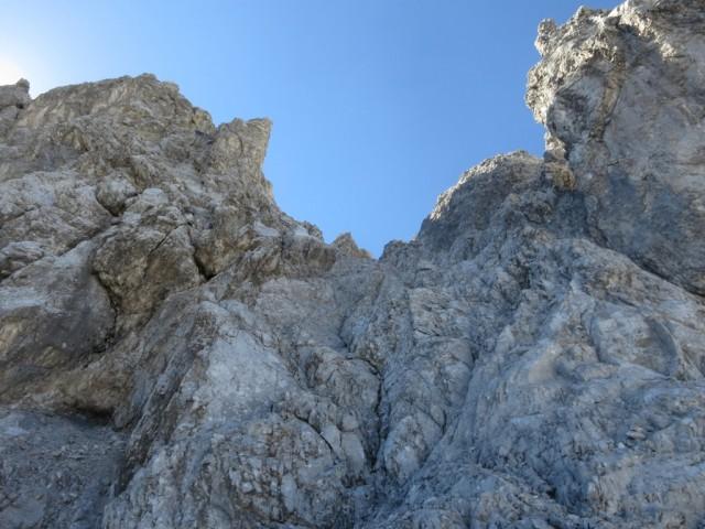Rückblick auf die Abstiegsroute vom Walderkampturm
