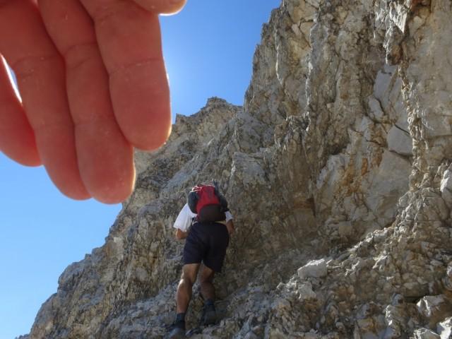 Andi im unteren Teil der schwierigen Wand