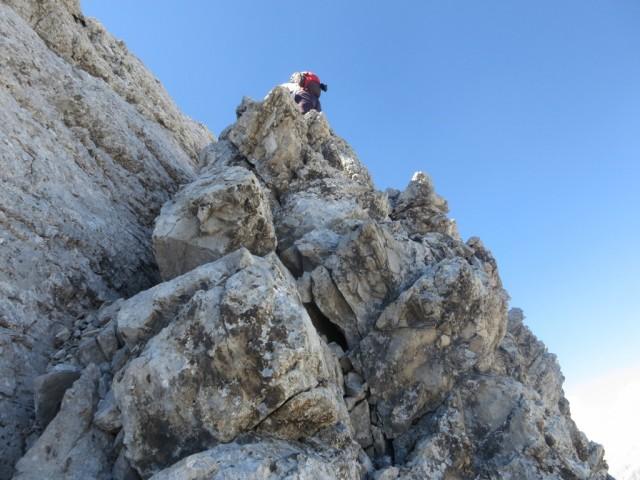 Aufstiegsrinne zum Osteck des Großen Bettelwurf