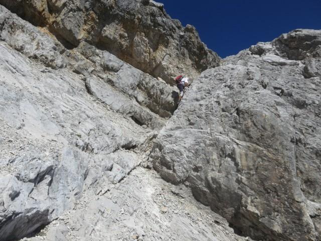 Andi im Abstieg vom Kleinen Bettelwurf